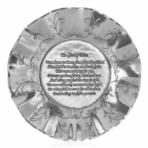 The Giving Plate Metal Bowl