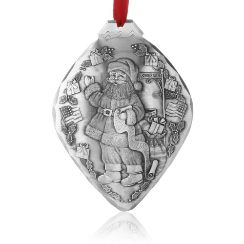 USA Santa Collectible Christmas Ornament
