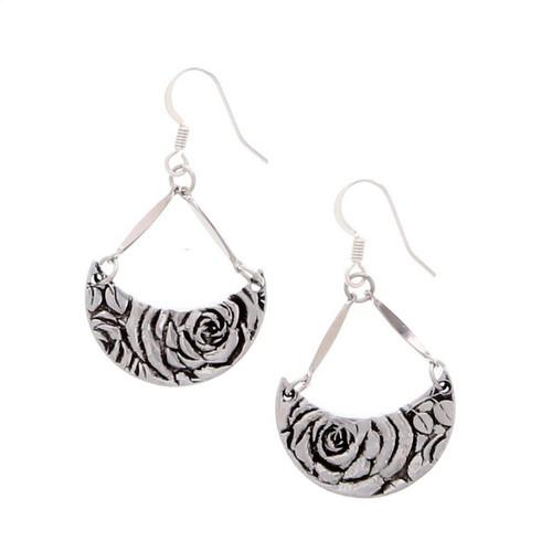 Rose Crescent Earrings