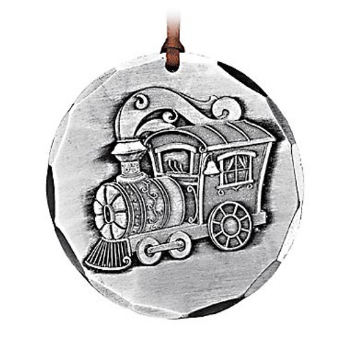 Toy Train Keepsake Metal Christmas Ornament