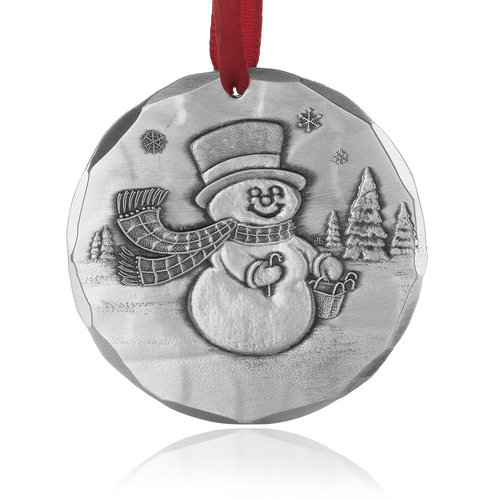 Frosty Snowman Metal Keepsake Christmas Ornament