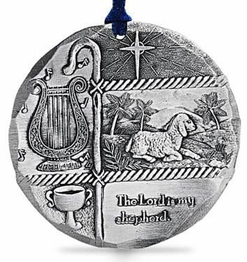 The Lord is My Shepherd Metal Christmas Tree Ornament