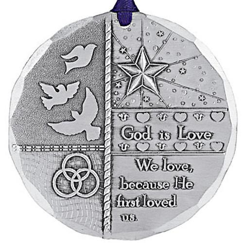 God is Love Religious Keepsake Christmas Ornament