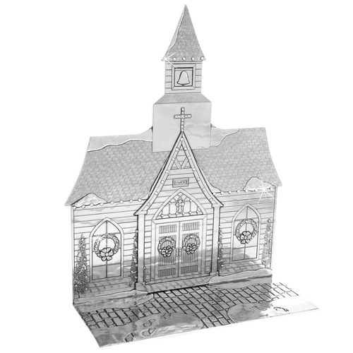 The Magic Christmas Village Church with Swarovski Crystals