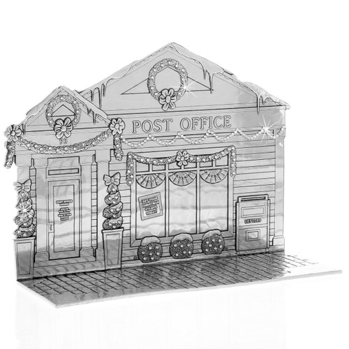 The Magic Christmas Village Post Office with Swarovski Crystals