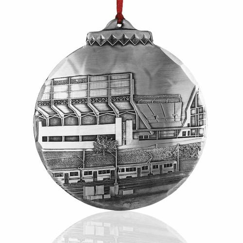 Cleveland Football Stadium Ornament by Jim Ptacek