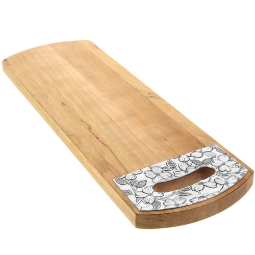 "Dogwood 18"" x 6"" Cherry Warther Serving Board"