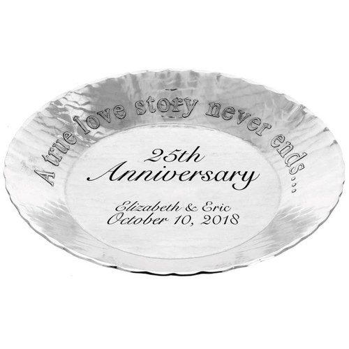 A True Love Story Personalized Round Tray