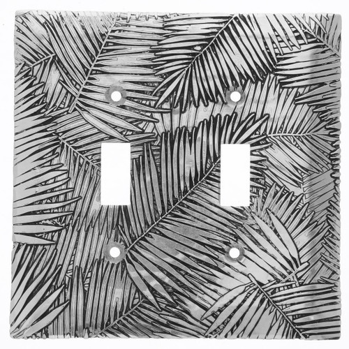 Tropical Breeze Double Switch Plate Cover (Aluminum)