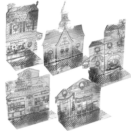 The Magic Christmas Village 5-Piece Set
