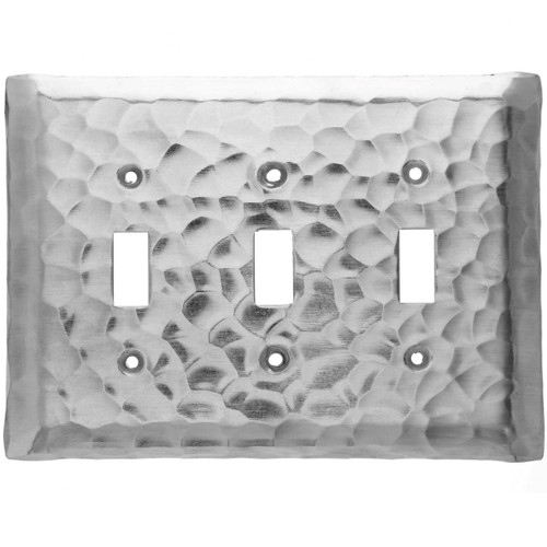 Waterfall Triple Switch Plate Cover (Aluminum)