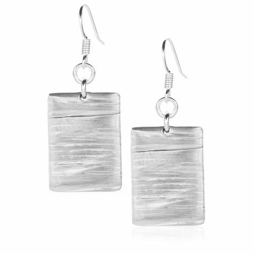 Metal and Gemstone Telluride Dangle Earrings