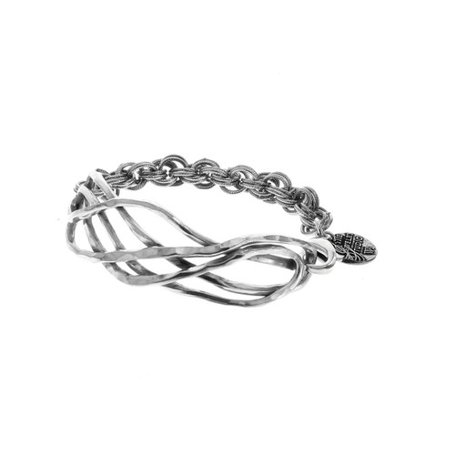 Recycled Twisted Metal Fashion Bracelet