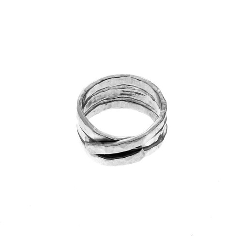 Upcycled Twisted Metal Traverse Fashion Ring