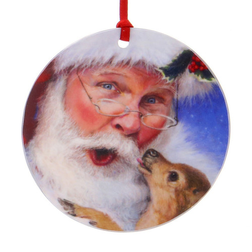 Santa's Newest Reindeer Luminosity Ornament