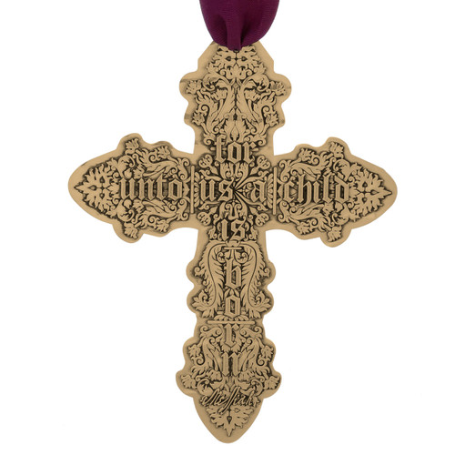 Messiah Cross Ornament (Bronze)