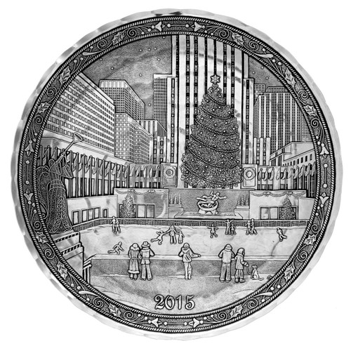 2015 Annual Decorative Plate - Skating in New York City