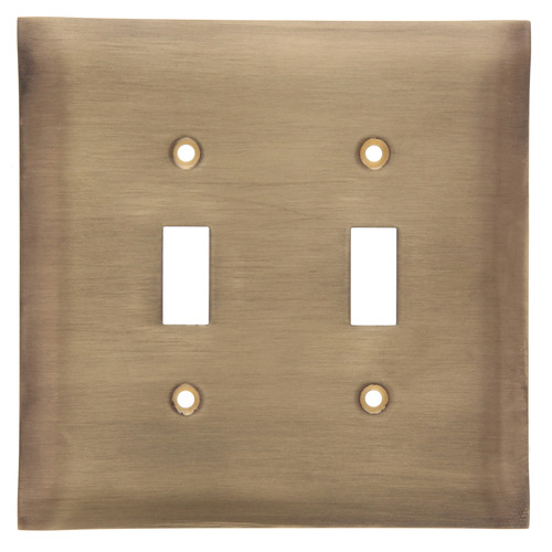 Brushed Bronze Double Switch Plate Cover