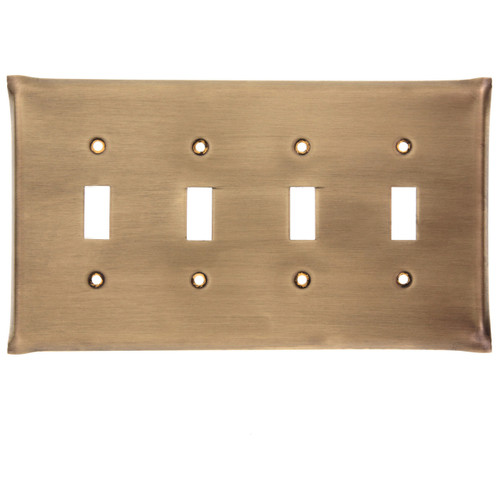 Brushed Bronze Quad Switch Plate Cover