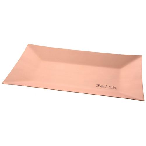 Faith Copper Small Horizon Tray