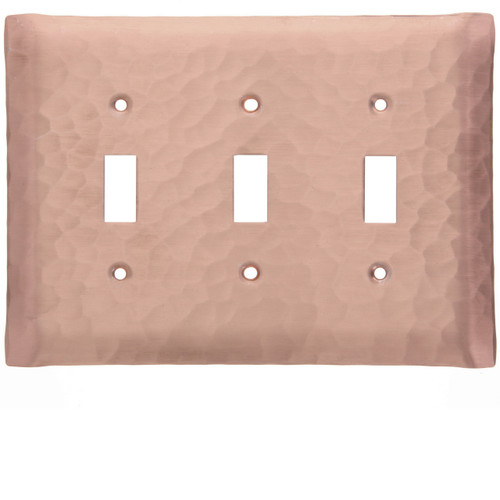 Waterfall Triple Switch Plate Cover (Copper)
