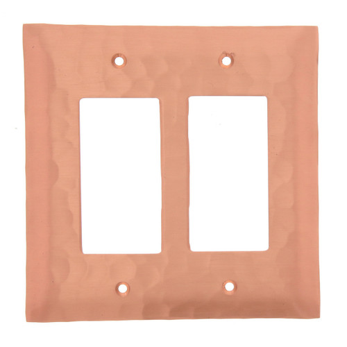 Waterfall Double GFCI Outlet Cover (Copper)