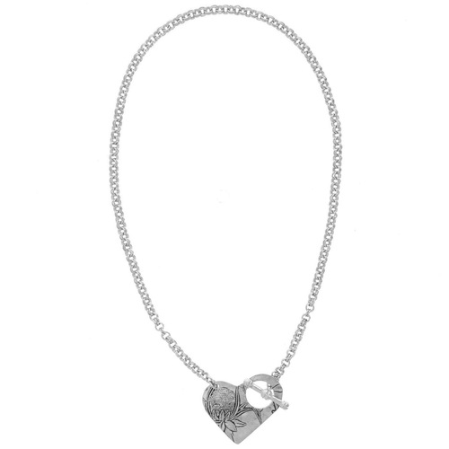 Tracery Heart Toggle Necklace