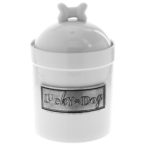 Lucky Dog Ceramic Treat Jar