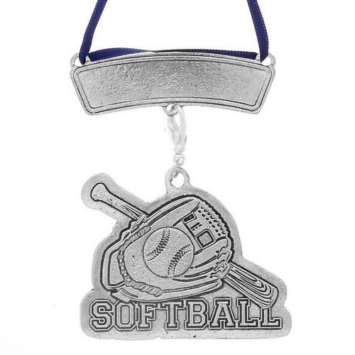 Personalized Softball Sports Ornament