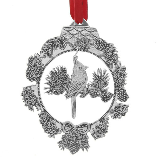 cardinal songbird dangling ornament
