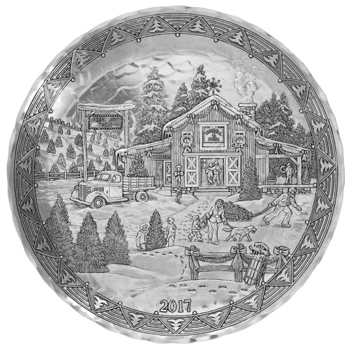 2017 Annual Plate - The Christmas Tree Journey