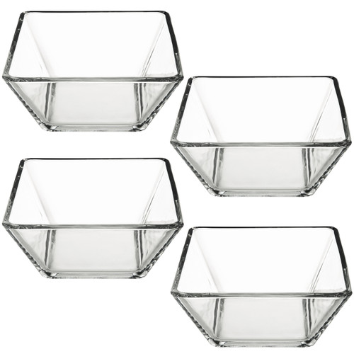 4-Piece Glass Salad Bowl Set