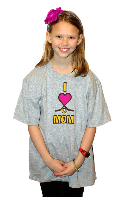 Pittsburgh Penguins I Love Mom T-Shirt (Youth XL)