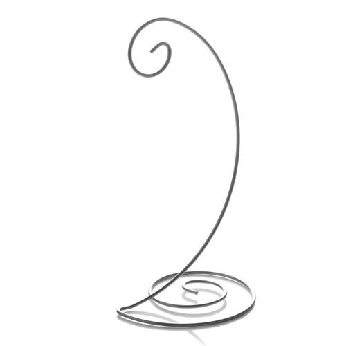 Spiral Bottom Ornament Stand - Silver