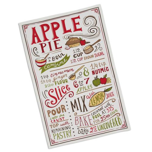 Apple Pie Recipe Tea Towel