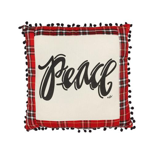 Peace Plaid Pillow