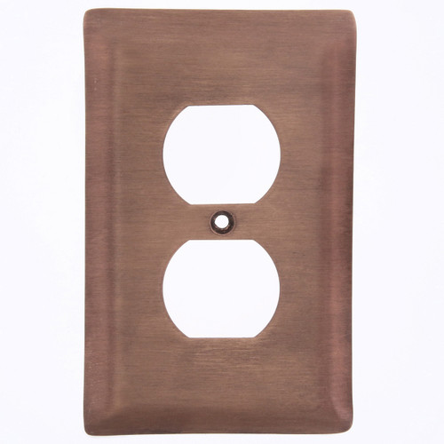 Brushed Copper Single Outlet Cover