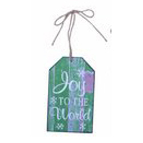 Joy to the World Tag Ornament