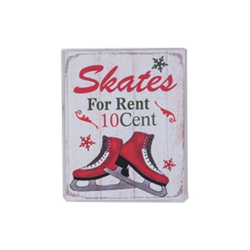Skates for Rent Sign