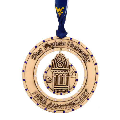 WVU Anniversary Christmas Ornament