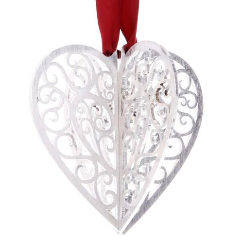 Silhouette Heart Ornament