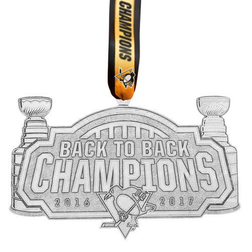 Pittsburgh Penguins Back to Back Champions Collector's Ornament