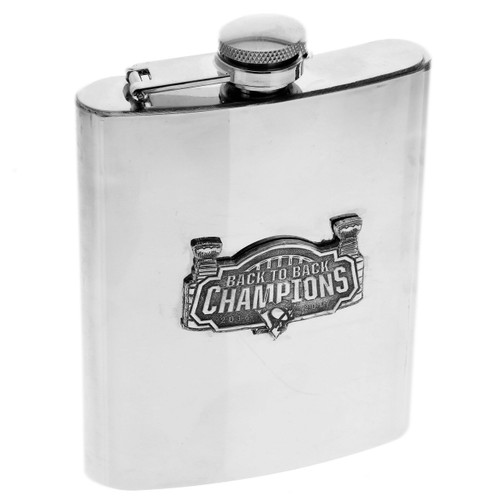 Pittsburgh Penguins Back to Back Champions Flask