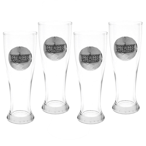 Miami University Pilsner 4 PC Set