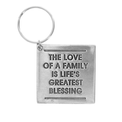 The Love of a Family is Life's Greatest Blessing Keychain