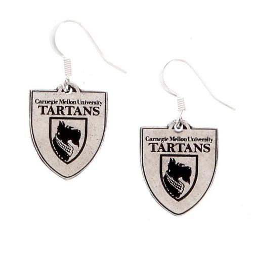 Carnegie Mellon Shield Earrings