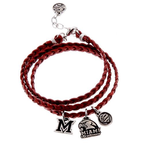 Miami University of Ohio Wrap Bracelet