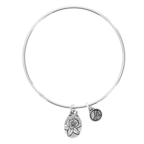 Daffodil New Beginnings Bangle Bracelet