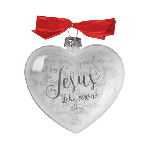 Jesus Heart Christmas Ornament