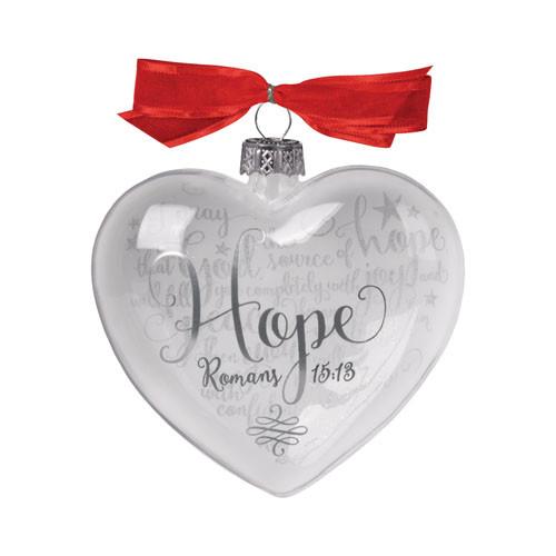 Hope Heart Christmas Ornament